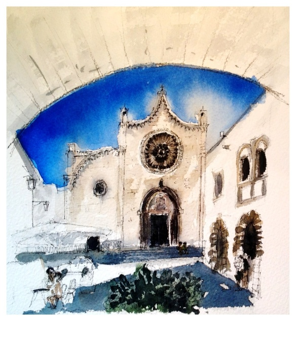 Southern Italy watercolour & ink paintings